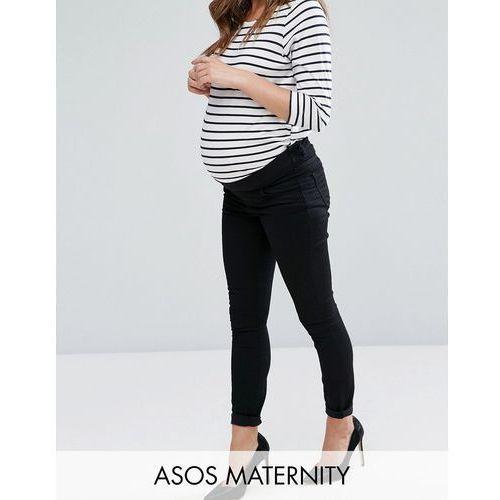 lisbon mid rise ankle grazer jean in clean black - black marki Asos maternity