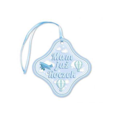 Zawieszki na butelki z wstążeczką niebieskie Mam już roczek - 20 szt. (5907509911408)
