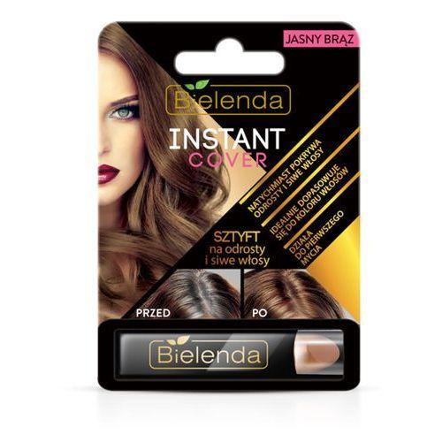 Sztyft na odrosty i siwe włosy jasny brąz instant cover 4.3g marki Bielenda