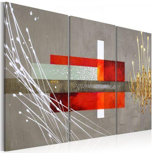 Obraz - prostokąty, kwadraty – szary (60x40 cm) marki Artgeist