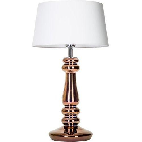 Lampa stołowa petit trianon copper z białym kloszem, l051261217 marki 4 concepts