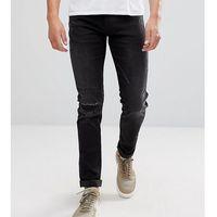 Replay Hyperflex Anbass Distressed Slim Jeans - Black, kolor czarny