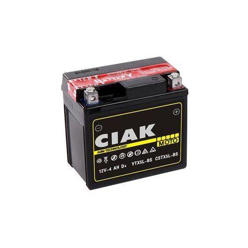 Akumulator motocyklowy ytx5l-bs 12v 4ah 70a p+ marki Ciak