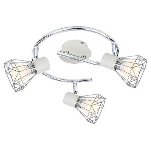 Plafon LAMPA sufitowa VERVE 98-61355 Candellux regulowana OPRAWA okrągła SPOT druciane reflektorki loft chrom białe, kolor Biały