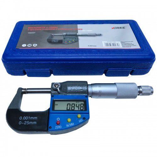 Mikrometr 0-25 zewnętrzny lcd noniuszowy marki Verke
