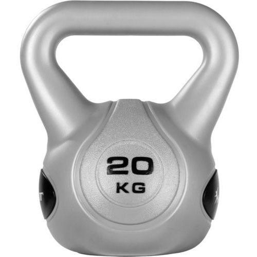 Movit ® Srebrna hantla kompozytowa kula kettlebell ketla 20kg - 20 kg (20040551)