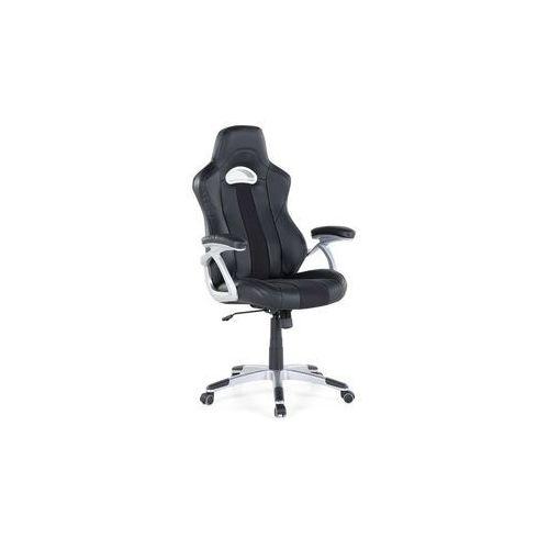 Krzesło biurowe czarne - obrotowe - skóra ekologiczna - adventure marki Beliani
