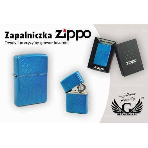 Zapalniczka iced diamond plate cerulean marki Zippo