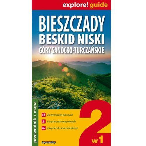 Bieszczady, Beskid Niski, Góry Sanocko-Turczańskie 2 w 1- przewodnik + mapy (praca zbiorowa)