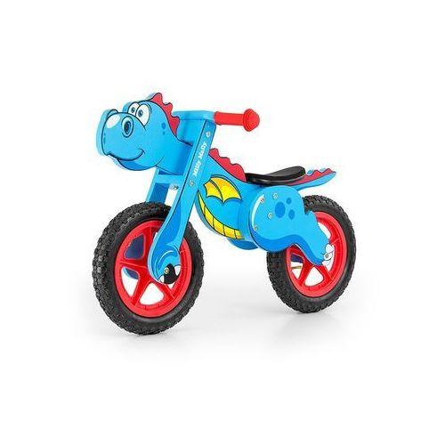 Milly-mally Rowerek biegowy drewniany dino blue