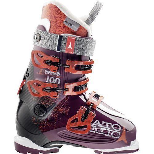 Buty narciarskie waymaker carbon 100 w purpurowa/czarny 24.5, marki Atomic