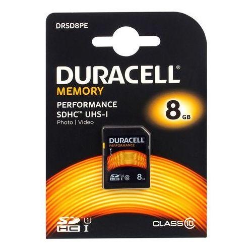 Karta pamięci Duracell 8GB SDHC Class 10 UHS-1 - DRSD8PE - DRSD8PE Darmowy odbiór w 19 miastach! - produkt z kategorii- Karty pamięci