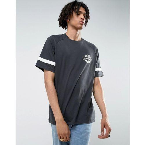 Brixton  raglan t-shirt with small logo - black