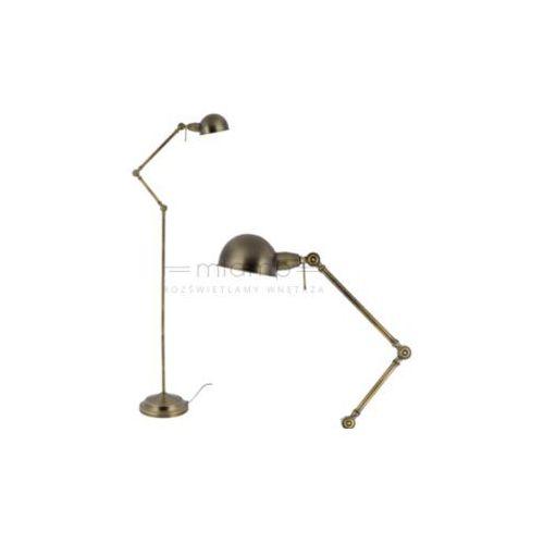 Spotlight Industrialna lampa podłogowa kadina 8471111 regulowana oprawa stojąca mosiądz