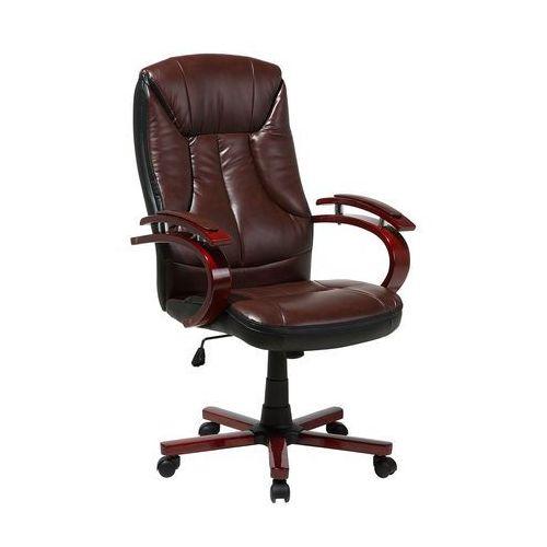 Krzesło biurowe brązowo-czarne MARSHAL (7105272602396)