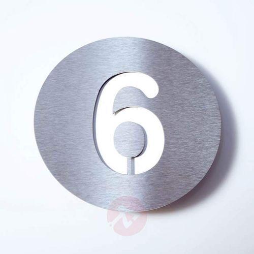 Tabliczka z numerem domu ROUND, stal szl. – 6 (4250208614257)
