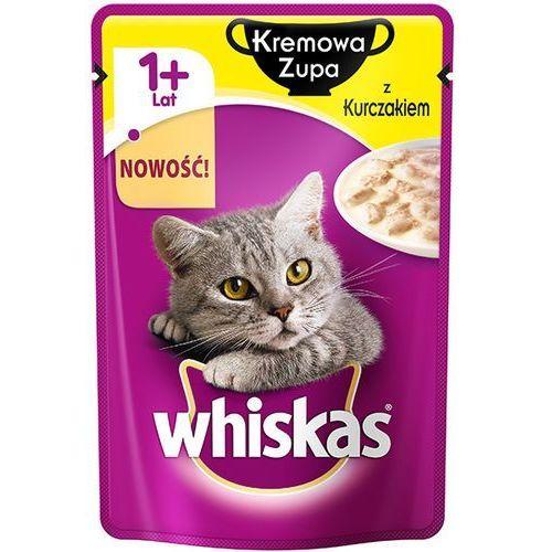 85g kremowa zupa z kurczakiem karma pełnoporcjowa dla kota marki Whiskas