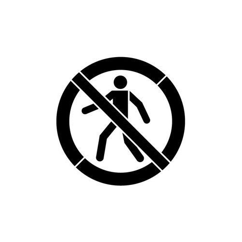 Szabloneria Szablon z plastiku do malowania znak zakaz przejścia, wstępu gp004 - 85x85 cm