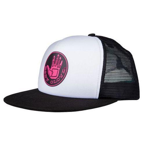 czapka z daszkiem BODY GLOVE - Core Logo Trucker Hat White/Black (WHITE-BLACK), kolor biały