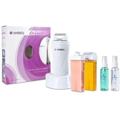 Podgrzewacz do wosku z bazą sonobella deluxe + 2 woski, paski i kosmetyki marki Beauty system