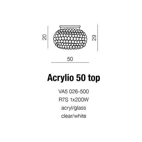 Azzardo Lampa sufitowa acrylio / va5-026-500