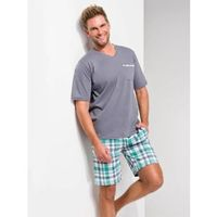 tymon 919 ss/17 k1 zielona krata piżama męska marki Taro
