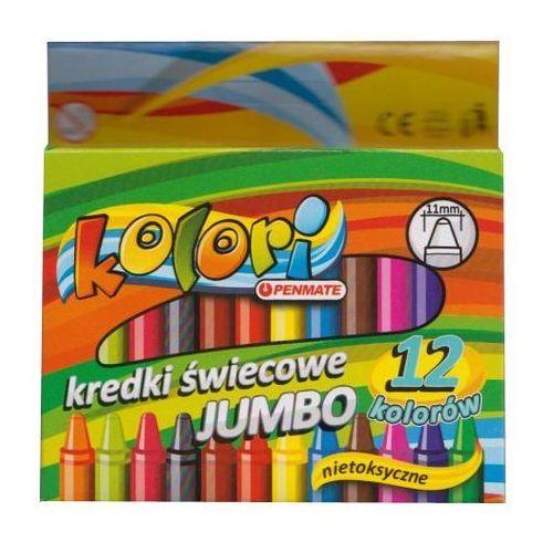 Kredki świecowe Jumbo 12 kolorów Kolori