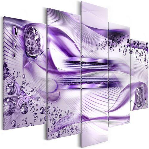 Obraz - podwodna harfa (5-częściowy) szeroki fioletowy marki Artgeist
