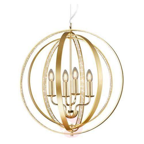 Trio Lampa wisząca candela 102000403 metalowa oprawa świecznikowa zwis pierścienie rings kula ball mosiądz