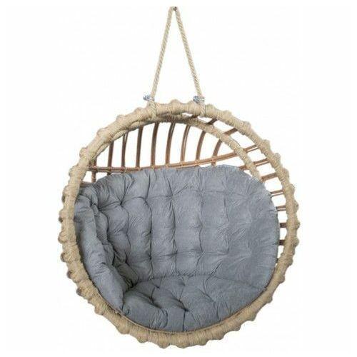 Okrągły fotel jajo z wikliny do ogrodu - Petro, Kosz-okrągły