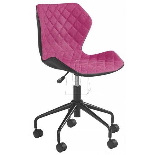 Fotel młodzieżowy halmar MATRIX czarno-różowy