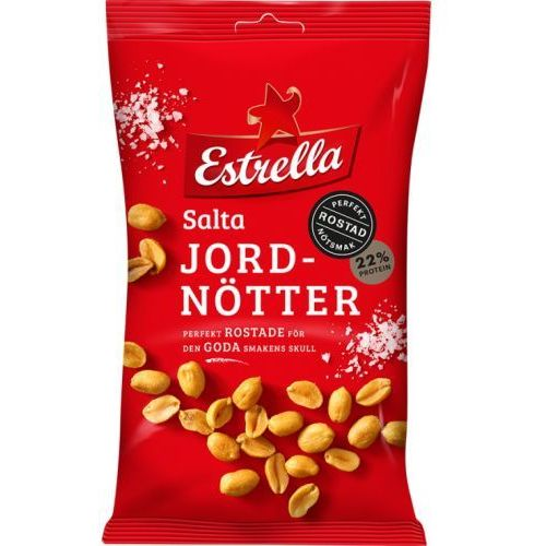 Estrella - Salta Jordnotter - prażone orzeszki ziemne - z solą - 275g - ze Szwecji (7310532150764)
