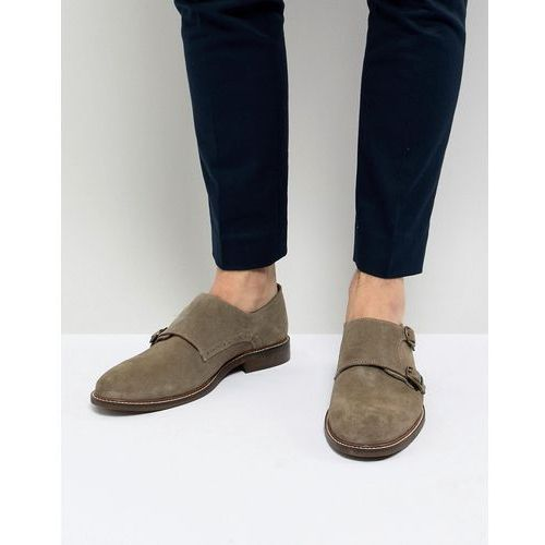 Dune Monk Shoes In Taupe Suede - Beige