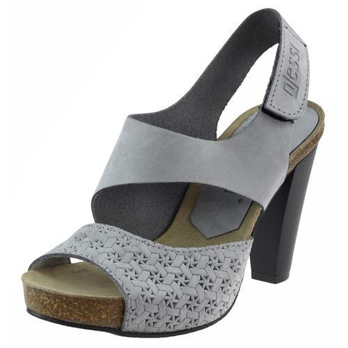 Sandały Nessi 42103 - Szary 11+ plecionka, kolor szary
