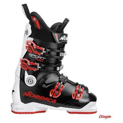 Buty narciarskie Nordica Sportmachine 100 Black/White/Red 2018/2019