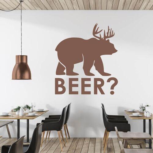 Wally - piękno dekoracji Szablon na ścianę beer? 2503