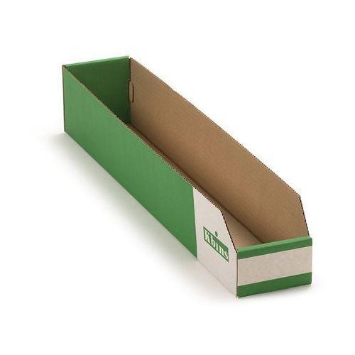 K bins limited Skrzynki regałowe z kartonu, składane, opak. 50 szt., dł. x szer. x wys. 600x100