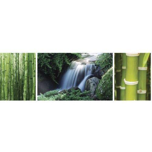 Chiny - Las Bambusowy i Wodospad - Tryptyk - plakat (5028486131471)