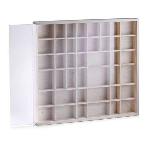 Drewniana gablotka z szybką - witrynka kolekcjonerska, ZELLER