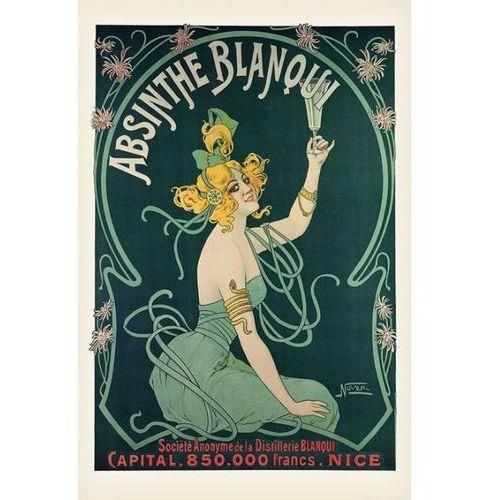 Absynt Secesja - Absinthe Blanqui - plakat