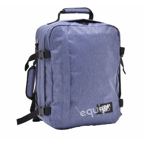 Cabinzero Plecak torba podręczna mini + pokrowiec organizer gratis - blue jean