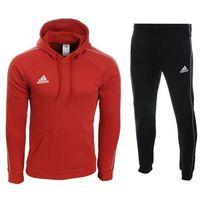Adidas Dres męski core 18 spodnie / bluza ce9074 / cv3337 - czerwono-czarny