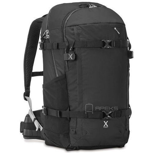 """Pacsafe Venturesafe X40 plecak turystyczny antykradzieżowy / laptop 15"""" / czarny - Black, kolor czarny"""