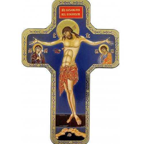 Ikona krzyż z wizerunkiem chrystusa 12x18 cm wyprodukowany przez Produkt włoski