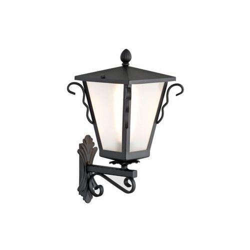 Kinkiet Argon Sandomierz 3646 lampa oprawa ścienna zewnętrzna 1X60W E27 IP44 czarny / biały (5902553204476)