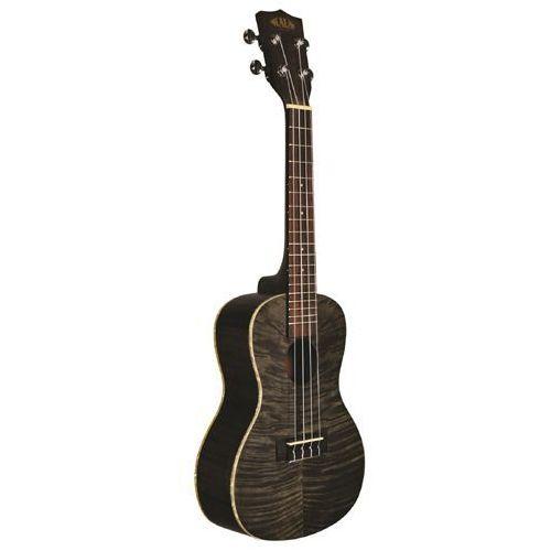 Kala Exotic Mahogany Ply Concert Ukulele Black ukulele koncertowe + pokrowiec