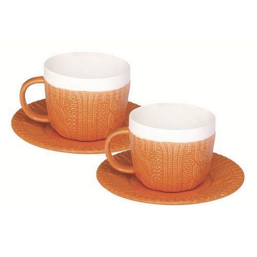 - zestaw 2 filiżanek espresso z talerzykami marki R2s