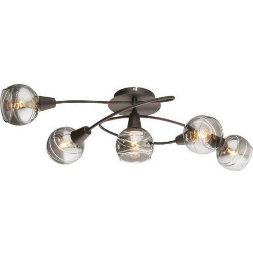Plafon Globo Isla 54347-5 lampa sufitowa 5x4W E14 LED brąz, 54347-5