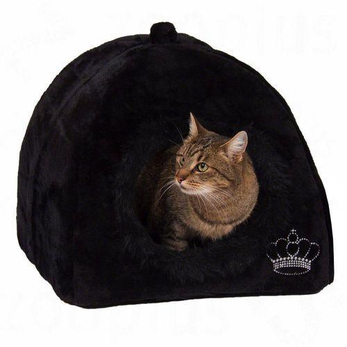 Budka dla psa i kota royal pet black, czarne - dł. x szer. x wys.: 45 x 45 x 45 cm marki Zooplus exclusive