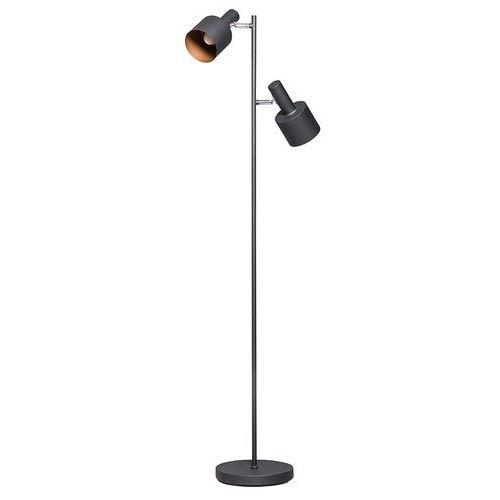 Nowoczesna lampa podłogowa czarna z 2 reflektorami - Conter